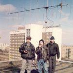 на крыше КГПУ 1996 , RN3W, RW3WX